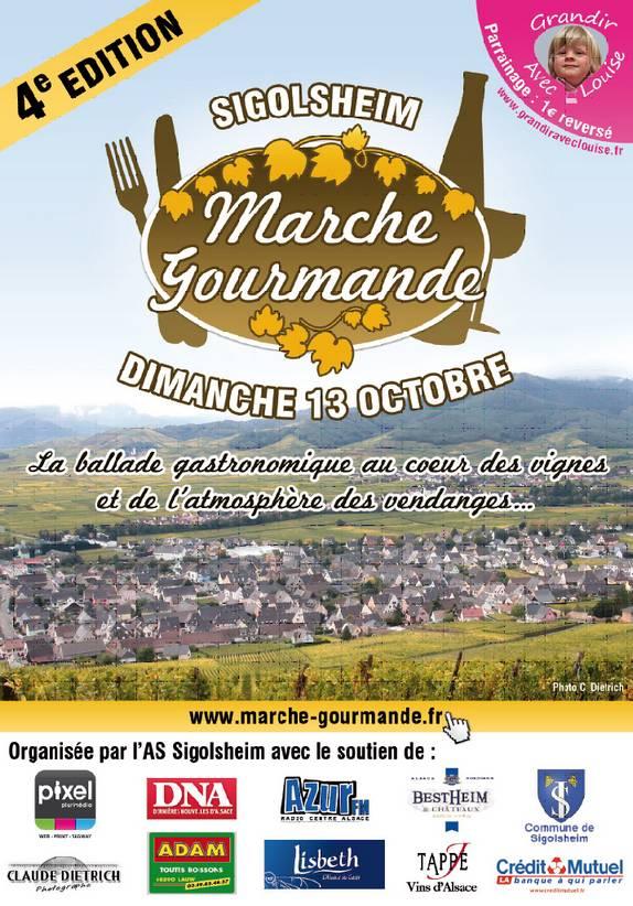 Affiche marche gourmande2013